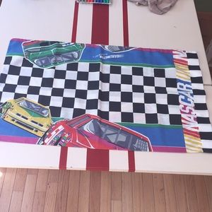 Vintage NASCAR Racing Pillowcase Double Sided